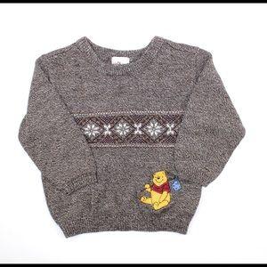 Boys Brown Heather Winnie the Pooh Sweater